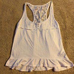 White Lace Gilly Hicks Peplum top size medium
